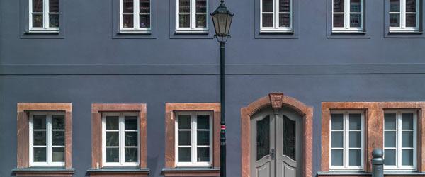 facade bleue maison