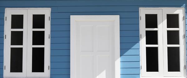 facade maison bleue