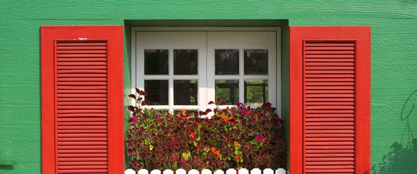 facade maison verte