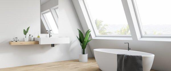 salle de bain mansardee